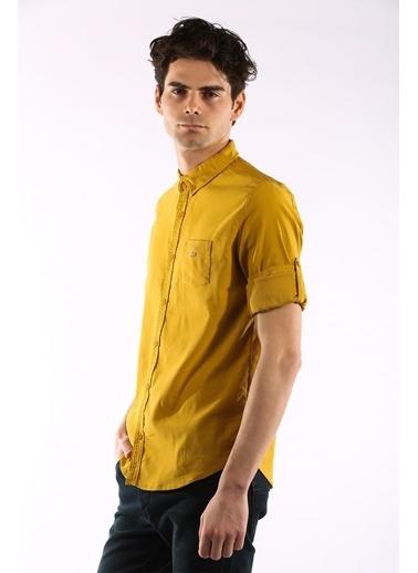 Rodrigo 1456 Cepli Lıkralı Erkek Gömlek Hardal
